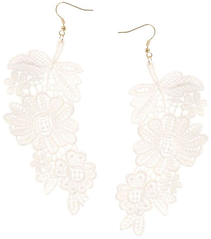 Asos Limited Edition Lace Floral Earrings