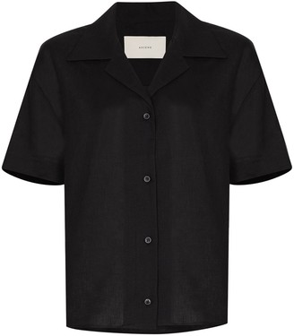 ASCENO Organic Linen Button-Up Shirt