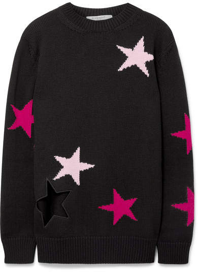 Givenchy Intarsia Wool Sweater - Black
