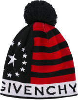 Givenchy stars and stripes knitted hat