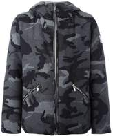 Moncler Gamme Bleu camouflage print hooded jacket
