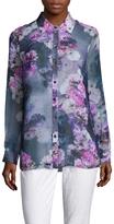 Magaschoni Women's Silk Chiffon Shirttail Tunic