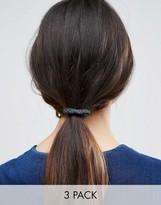 Asos Pack Of 3 Printed Bow Hair Ties