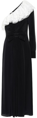 Alessandra Rich One-shoulder silk dress