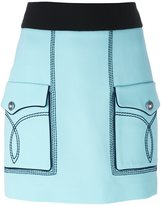 Fausto Puglisi front pocket mini skirt - women - Silk/Acetate/Viscose - 40