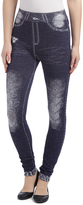Navy Distressed Knee Leggings