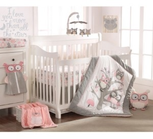Levtex Baby Night Owl Crib Bedding Set of 5 Bedding
