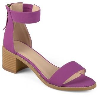 Brinley Co. Womens Zipper Tassel Ankle Strap Sandals