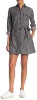 Dress Forum Utility Button Front Shirt Dress