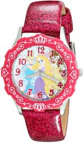 Disney Kids' W001980 Princess Analog Display Analog Quartz Pink Watch