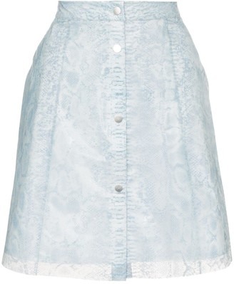 PASKAL clothes Reflective translucent printed skirt