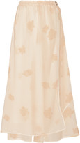 Band Of Outsiders Printed stretch silk and cotton-blend maxi skirt