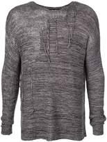 The Viridi-Anne distressed round neck sweater
