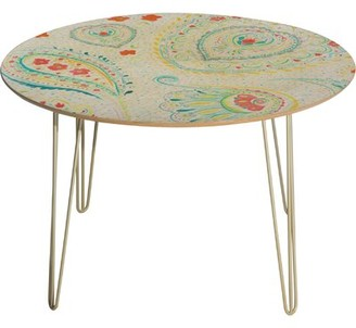 Deny Designs Jacqueline Maldonado Watercolor Paisley Dining Table