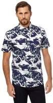 Hammond & Co. by Patrick Grant - Big And Tall Blue Stork Print Shirt