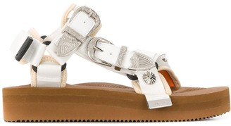 Suicoke Engraved Buckle Sandals