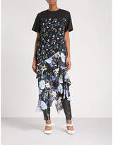 3.1 Phillip Lim Floral-print tiered cotton and silk-crepe top