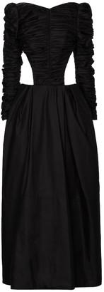 KHAITE Rosaline cutout cotton twill gown