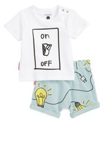 Infant Boy's Sookibaby Lights On Tee & Shorts Set