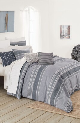 Splendid Home Decor Tuscan Stripe Duvet Cover & Sham Set