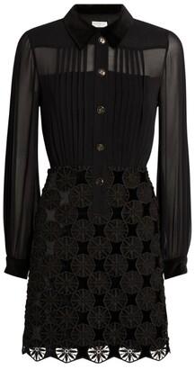 Sandro Paris Embroidered-Detail Dress