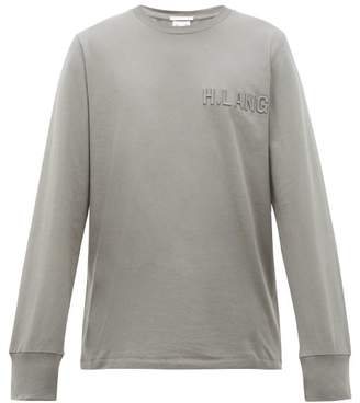 Helmut Lang Standard Logo-embroidered Cotton Top - Mens - Grey