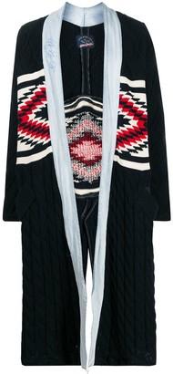 Greg Lauren X Paul & Shark Cable Knit Combined Coat