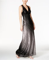 Xscape Evenings Ombré Sequined Racerback Gown
