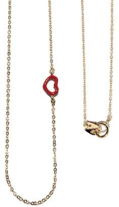 Jordan Askill Red Enamel Heart Necklace