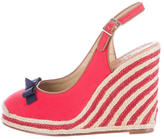 Kate Spade Canvas Espadrille Wedges