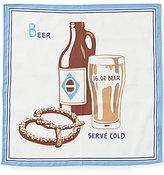 Daniel Cremieux Beer and Pretzel Print Pocket Square