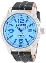 Sector Men's Quartz Watch with Blue Dial Analogue Display and Black Leather Strap R3251102014