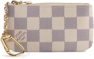 Louis Vuitton Key Pouch Damier Azur White/Blue