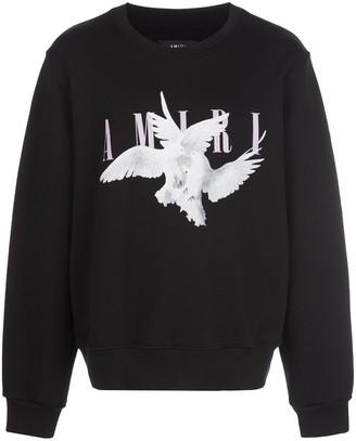 Amiri dove print sweater