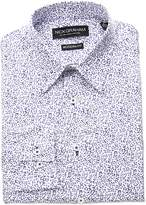 Nick Graham Men's Classic Fit Floral Print Cotton Dress Shirt