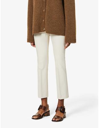 S Max Mara Umanita straight-leg high-rise cotton-blend trousers