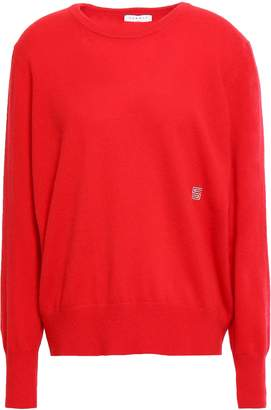 Sandro Logo-embroidered Cashmere Sweater