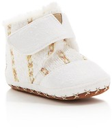 Toms Girls' Metallic Twill Suede Booties - Baby