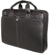 "Mobile Edge Deluxe Leather Briefcase- 16""PC/17""Mac"