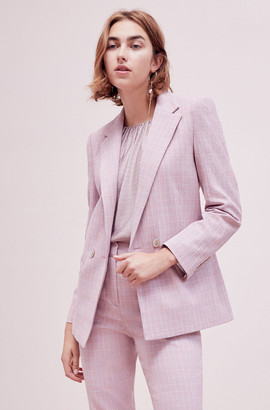 Rebecca Taylor Tailored Rose Plaid Suiting Jacket