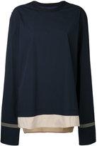 General Idea striped hem T-shirt - men - Cotton/Polyamide/Spandex/Elastane - 46