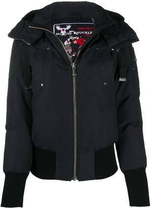 Moose Knuckles Le Jerune hooded bomber jacket