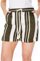 Plus Size Women's Elvi Stripe Cotton Shorts