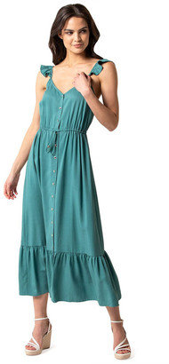 Forever New Amanda Frill Button Front Dress