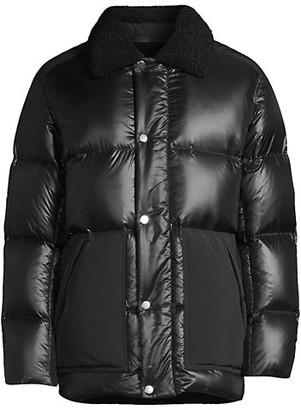 Theory Leon Faux Fur Collar Down-Filled Puffer Jacket