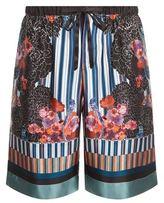 Meng Floral Silk Pyjama Shorts