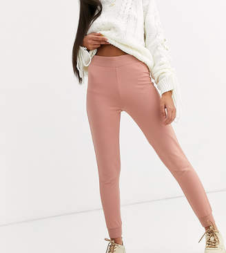 Asos DESIGN Petite basic stretch super skinny joggers in organic cotton-Pink