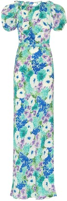 Alessandra Rich Floral silk maxi dress