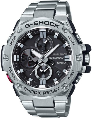 Casio G-Shock G-Steel Radio Controlled Solar Stainless Steel Chronograph Dial Stainless Steel Bracelet Mens Watch
