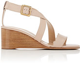 Chloé Women's Scallop-Detailed Wedge Sandals-PINK